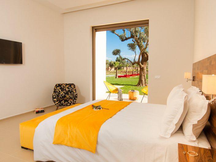 Photographie chambre villa de luxe à Marrakech