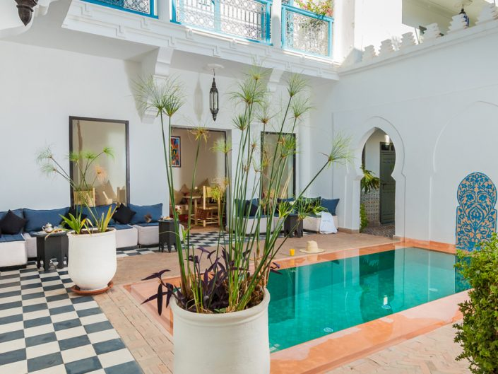 Photographie riad avec piscine Marrakech