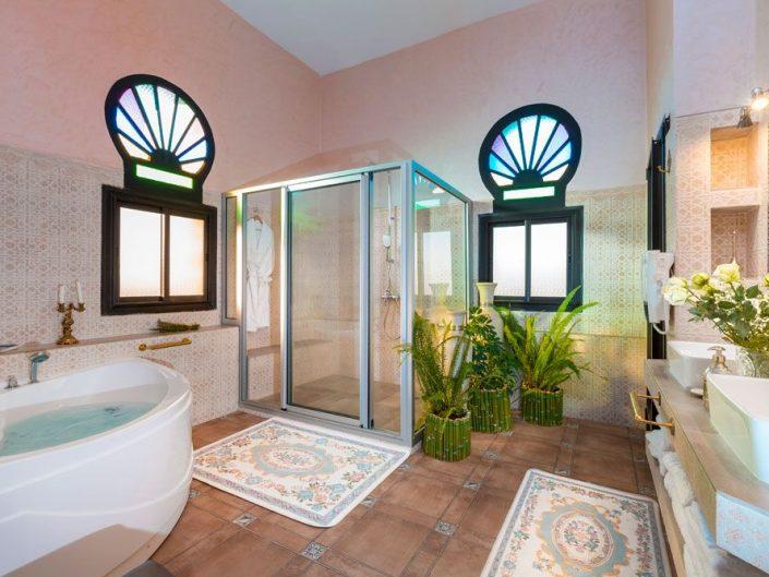 Salle de bain maison d'hôtes La Citadelle Marrakech