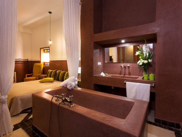 Shooting chambre d'hotel riad Ambre et Jasmin à Marrakech
