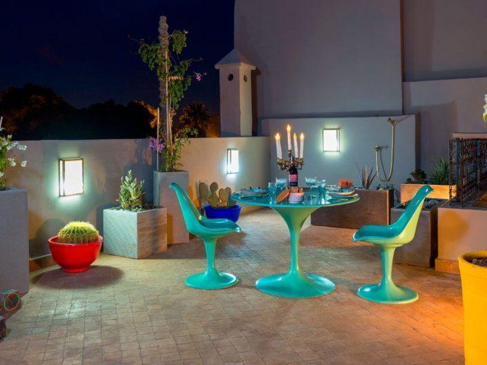 Photographie terrasse riad Lumière à Marrakech