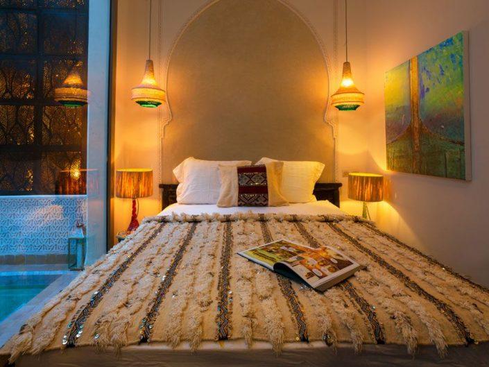 Photographier et retoucher une chambre d'hôtel à Marrakech