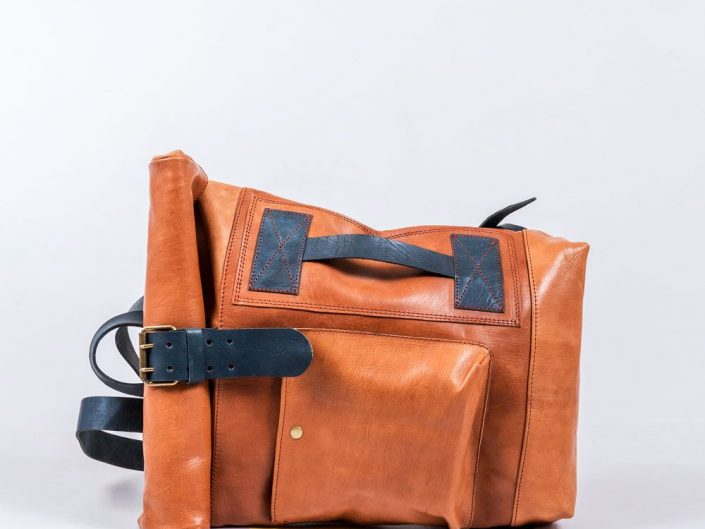 Packshot sac cuir artisanal marocain